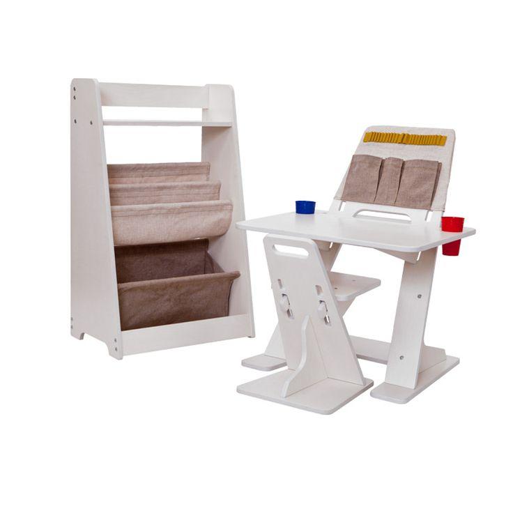Регулируемая парта и регулируемый стул из мебельной фанеры