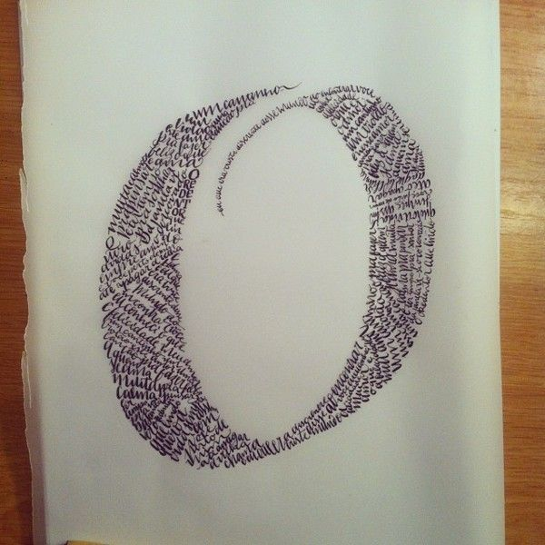 calligraphy on letters by Andrey Furlan, via Behance