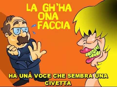 La Gh'ha Ona Faccia - Walter Valdi  ( Sottotitoli in italiano ! )
