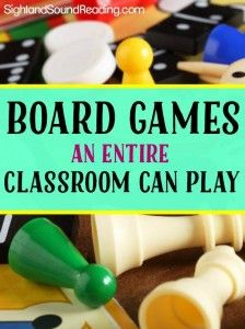 Board Games for the Classroom - Great list of educational board games you can play with an entire classroom...and learn how you can get them for free!)