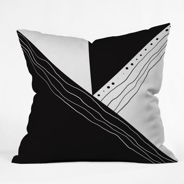 Viviana Gonzalez Black and white collection 02 Throw Pillow | DENY Designs Home Accessories