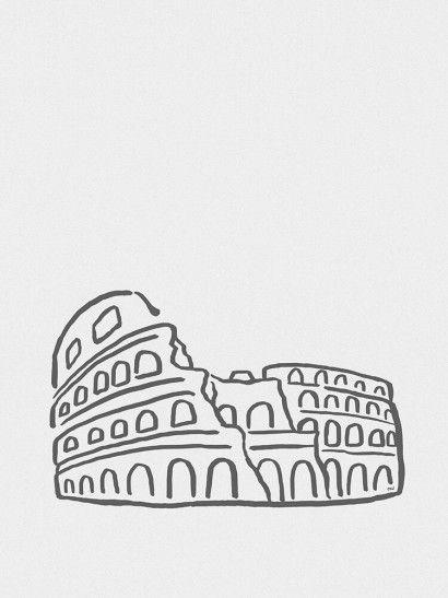 Coliseu Minimalista - On The Wall | Crie seu quadro com essa imagem https://www.onthewall.com.br/design-by-on-the-wall/minimalista/coliseu-minimalista #quadro #canvas #moldura #decor #italia #roma #minimalista