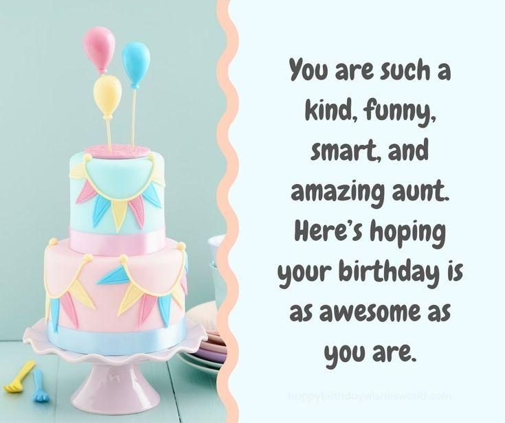 120 Ways To Say Happy Birthday Aunt
