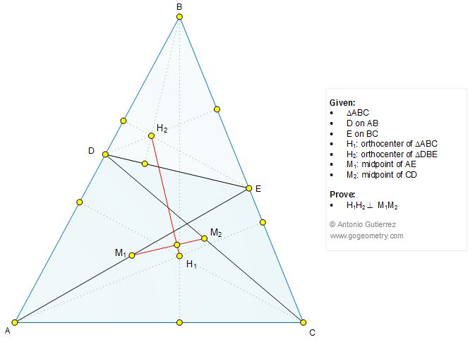 Geometry Problem 1246: Triangle, Orthocenter, Altitude, Midpoint, Perpendicular