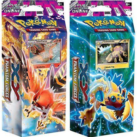 Pokemon XY Phantom Forces Burning Winds & Bolt Twister Set of Both Theme Decks