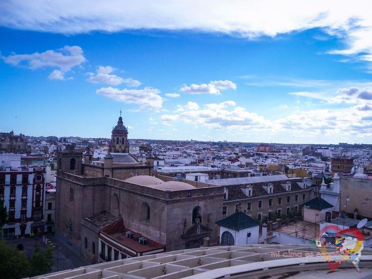 La vista desde las Setas de la Encarnación. Sevilla, Andalucía, España.