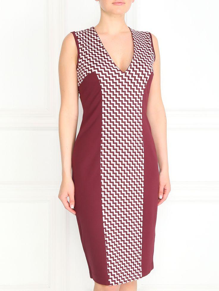 Купить со скидкой Max&Co бордовое платье-футляр с узором (83058) – распродажа в Боско Аутлет