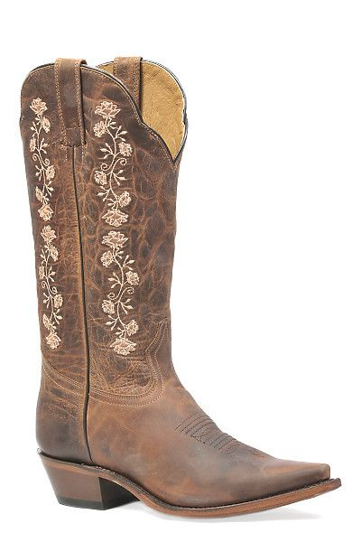 "MSRP $210.00 OUR PRICE $189.99 Toe: Snip toe Heel: Cowboy heel Height: 13"" Leather: Domestic Sole: Leather Sole"