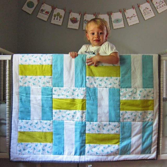 Flannel baby quilt. So simple it doesn't need the tutorial, but it gives some great advice on working with flannel. This would be a great first project for someone.