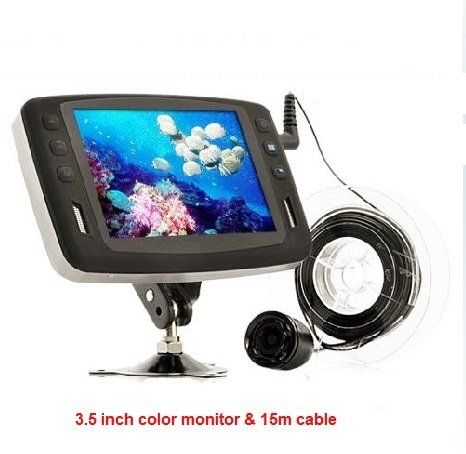 Visual Baot Fishing Finder with Underwater Camera 3.5 Inch Color LCD Monitor 15m Cable  https://fishingrodsreelsandgear.com/product/visual-baot-fishing-finder-with-underwater-camera-3-5-inch-color-lcd-monitor-15m-cable/  Monitor:3.5inch LCD screen Resolution:320(RGB)*240 Camera with LED:With LED Light, Night Vision