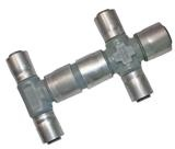 Buteline's versatile cross fittings can be used to make up your own custom manifolds!
