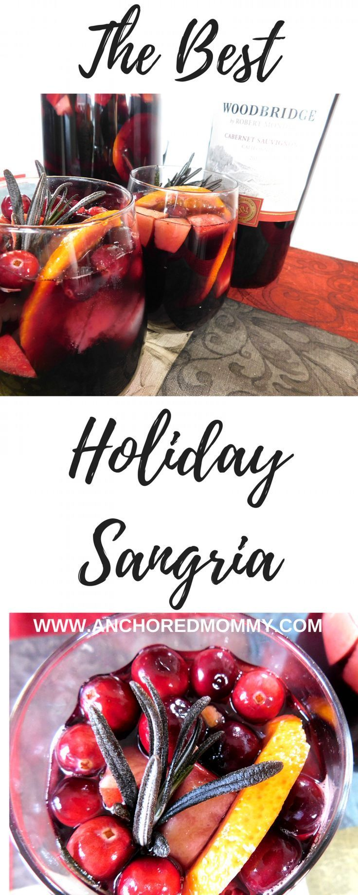 Msg 4 21+ #ad The Best Holiday Sangria - Anchored Mommy #TurkeyDayTips #CollectiveBias  holiday drink recipes   holiday sangria   sangria recipes   best sangria recipes   easy sangria recipe   red wine sangria recipe  