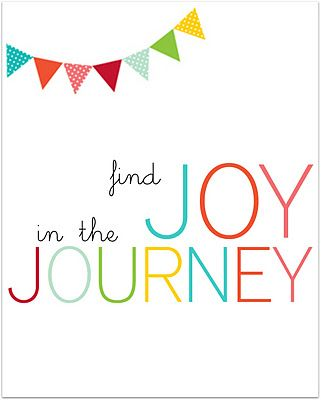 {joy in the journey} printable