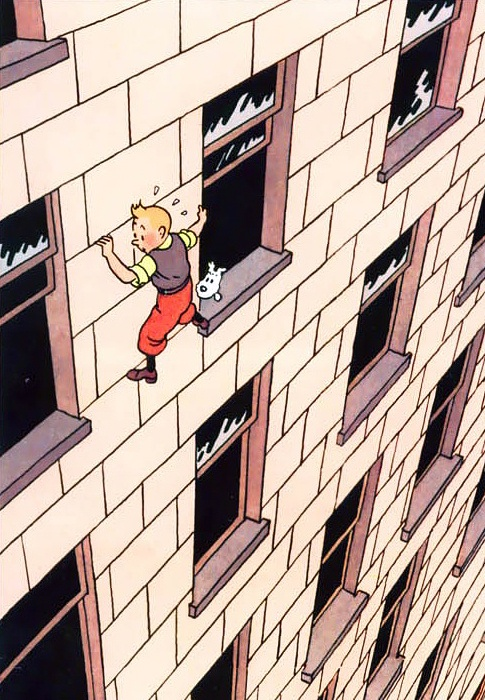 """Hergé - """"Tintin In America"""" (1932) - this is from the redrawn color version (1945)"""