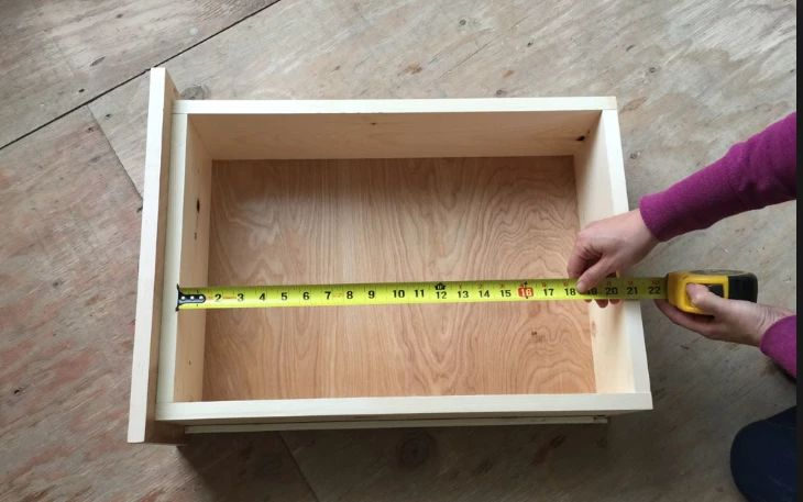 2. Measure the box, not the drawer front Since the front