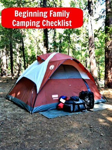 """Beginner's list for Family Camping - never thought of bringing a second """"play"""" tent for the kids!"""