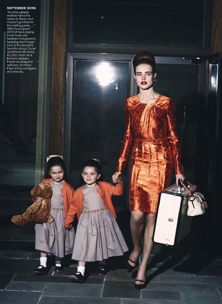 Natalia Vodianova & Ewan McGregor by Peter Lindbergh for Vogue | July 2010