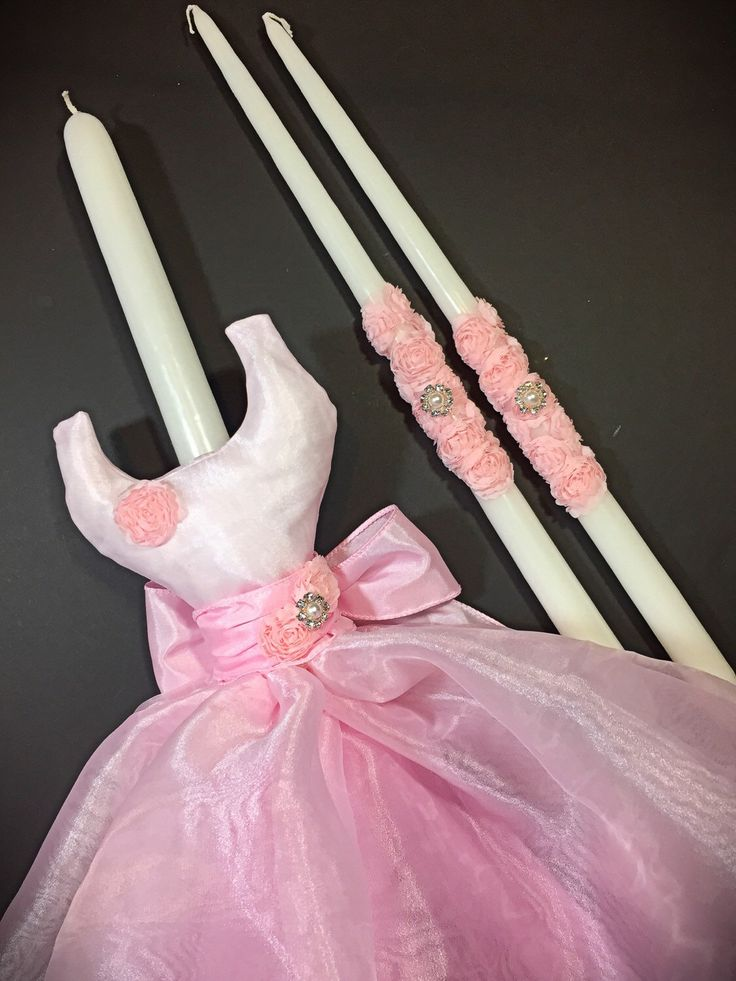 Ballerina Dress - Greek Christening Baptism Candles (Lambathes) by EllinikiStoli on Etsy https://www.etsy.com/listing/226873129/ballerina-dress-greek-christening
