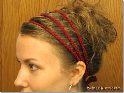 DIY crochet headband.