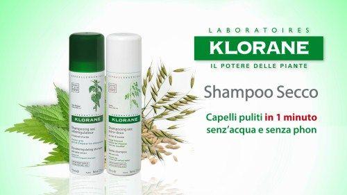 Oggi voglio parlarvi dello shampoo secco Klorane all'avena, un esclusivo shampoo secco che dona ai tuoi capelli pulizia, ordine e volume in un solo minuto: spruzzi, spazzoli e sei subito pronta!
