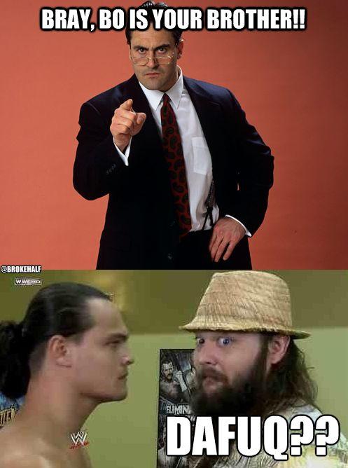 Funny WWE meme l Bray Wyatt & Bo Dallas l Rotunda family