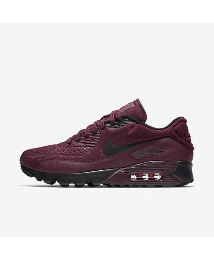 dfa766f706a Nike Air Max 90 Ultra SE Night Maroon Bright Crimson Black Mens Shoe ...