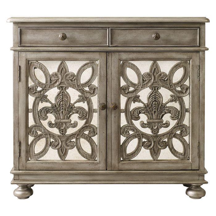 Fleur De Lis Pattern Cabinet