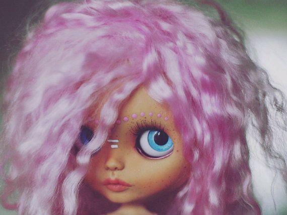 TBL blythe doll Custom Blythe Doll Collection doll Blythe doll  Customized Blythe OOAK doll Pink Blythe Collectable doll Art doll by Diana E