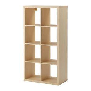 IKEA Kallax Bookcase Shelving Unit Display Birch Effect Brown Modern Shelf | eBay