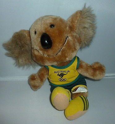 Vintage Australia Olympics Willy The Koala Bear Plush Animal