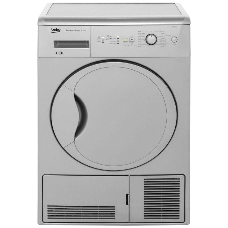 Beko 8kg Condenser Tumble Dryer | DCUR801S | ao.com