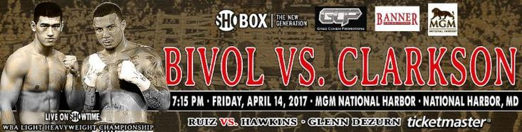 DMITRY BIVOL vs. SAMUEL CLARKSON SHOBOX: THE NEW GENERATION FINAL WEIGHTS, QUOTES