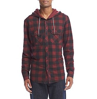 Ocean Current® Men's Buffalo Plaid Hooded Jacket