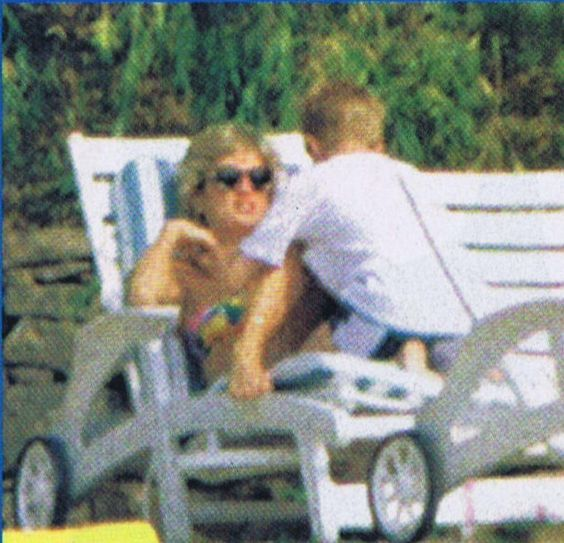 July 19 1996 Diana & Fergie with their children at the Villa Le Clos De Meaux near Seillans in the French Riviera villa for 10 days