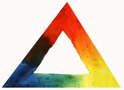 Color Mixing Triangle -- Three Primaries - Image: ©2007 Marion Boddy-Evans. Licensed to About.com, Inc.