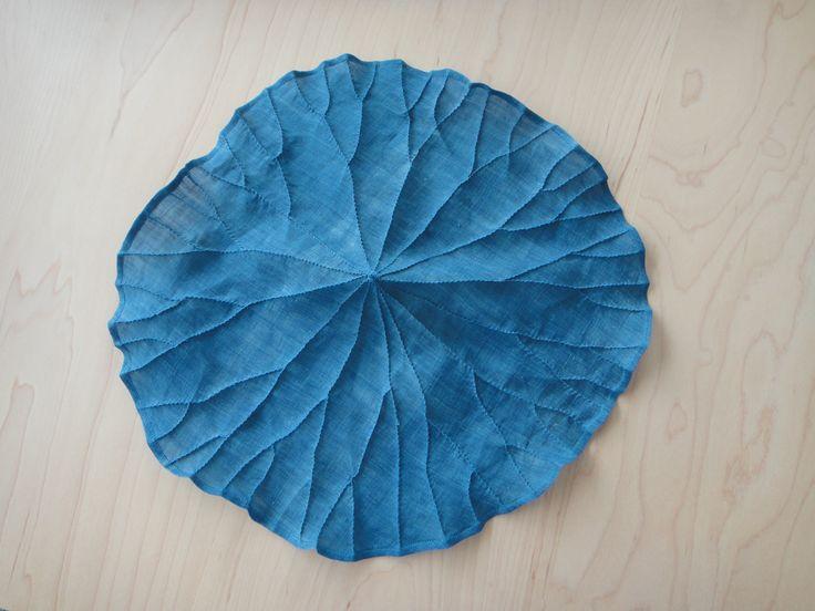 쪽염색 모시연잎다포