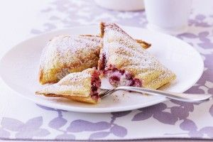 White chocolate & raspberry ricotta jaffle
