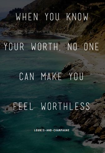 know your worth!