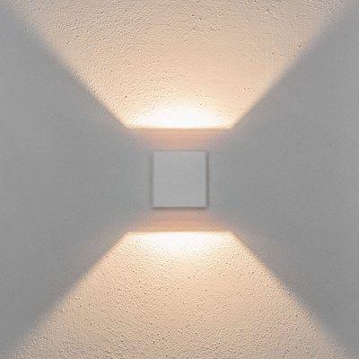 08144: Diese LED-Wandleuchte mit modernem Design spendet ein sehr elegantes Licht. Die zwei Lichtkegel, die nach oben und nach unten mit symmetrischen Lichtwink