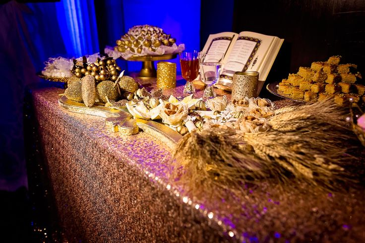 Sweets table at a Persian wedding.  For more wedding inspiration, visit www.bycalin.com