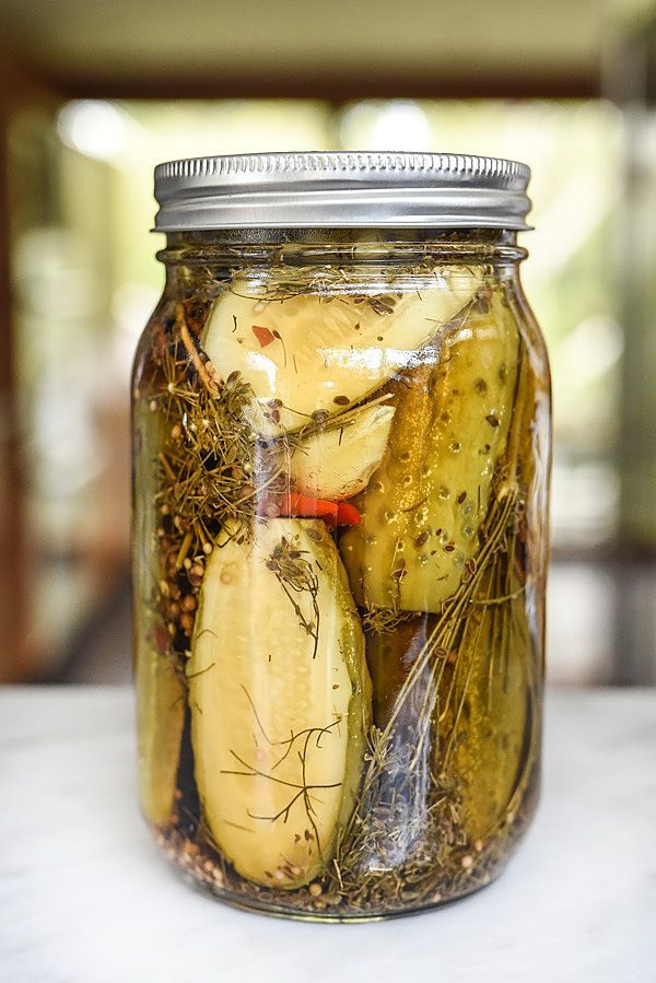 Killer Spicy Garlic Dill Pickles | foodiecrush.com