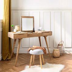 Schminktisch Im Vintage Stil Aus Massivem Mangoholz, B 112 Cm Trocadero |  Maisons Du