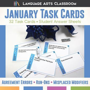 Looking for stylish, quick bell ringers? These task cards will serve older students as they correct common writing errors.