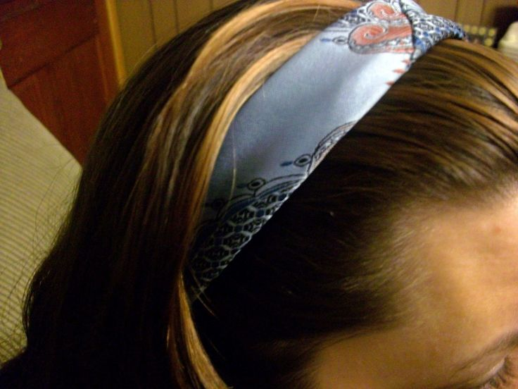 Necktie Headband  •  Free tutorial with pictures on how to make a recycled headband in under 10 minutes