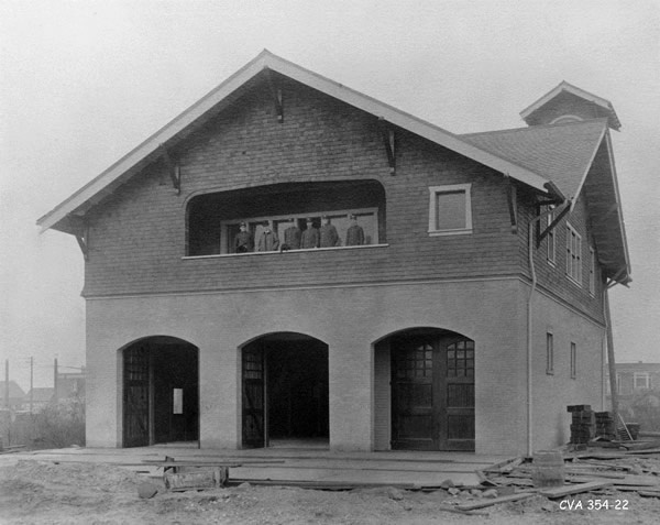 Firehall No. 4, South Granville neighbourhood. History of Vancouver, BC.