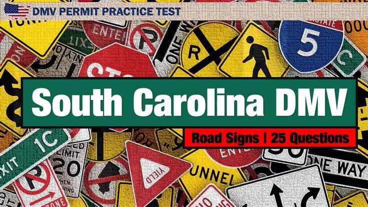 South Carolina DMV Road Signs Permit Practice Test