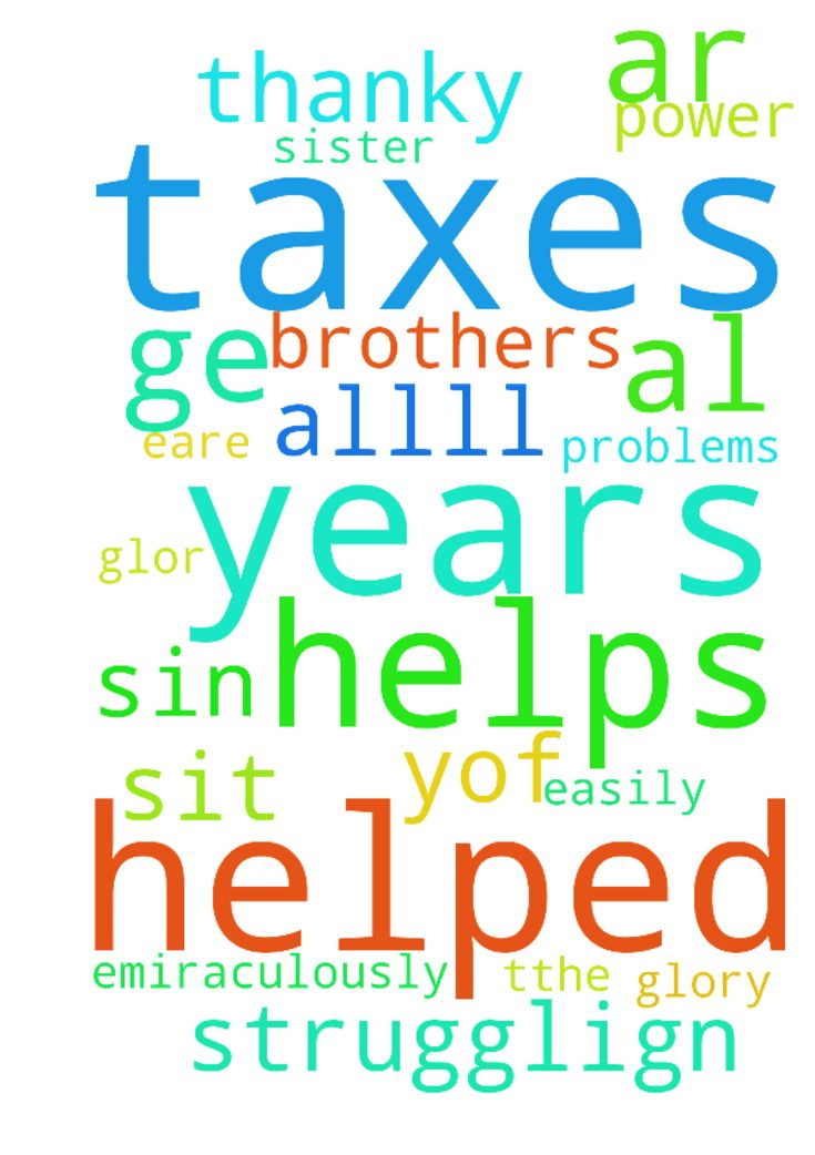 please pray the LORD helps me do 8 years of taxes and - please pray the LORD helps me do 8 years of taxes and that i have no problems doing so and I ge tthe help easily and it will be all for the glor yof God. Please pray that allll those strugglign to do their taxes ar emiraculously helped by the LORd . I pray al on this sit eare helped by the LORd for HIs glory and by HIs power. thanky you, brothers and sister sin Christ. Posted at: https://prayerrequest.com/t/Lne #pray #prayer #request…