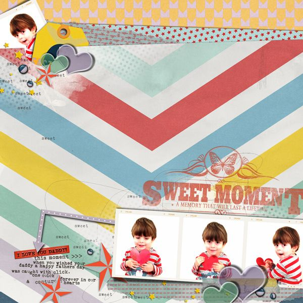 by Em Stafrace. Wanderlust Collection + Hearts a Flutter Vol.1 Page Drafts for Digital Scrapbooking by The Nifty Pixel