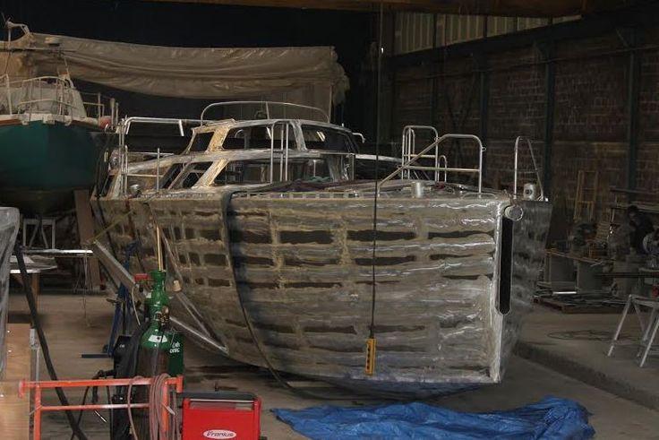 Révolutionnaire, l'AMERX40, dériveur intégral alu à foils, en finition chez Normandy Yacht Service