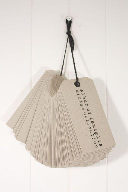 Etiquettes 'album di famiglia' (Vdc): Office Ideas, Prints Tags, Crafts Ideas, Business Cards, Etiquette Album, Packaging, Kraft Paper, Hanging Tags, Offices Ideas